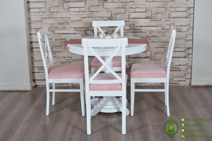 Meja Makan Bundar Minimalis Putih model terbaru desain simpel harga murah (2)