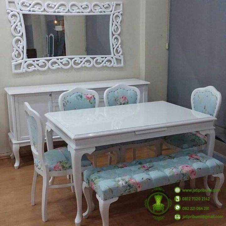 meja makan shabby chic terbaru 2017 harga murah berkualitas produk furniture mebel jepara